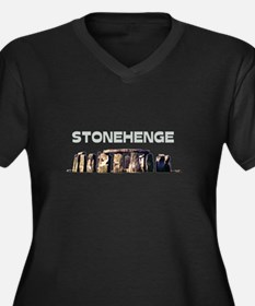 Stonehenge Women's Plus Size V-Neck Dark T-Shirt