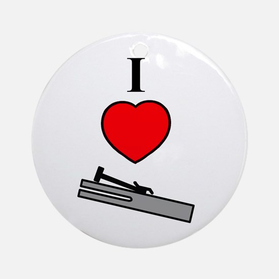 I Heart Chimes- Vertical Ornament (Round)