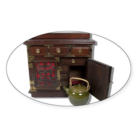 Tea Pot Chest Sticker (Oval 50 pk)