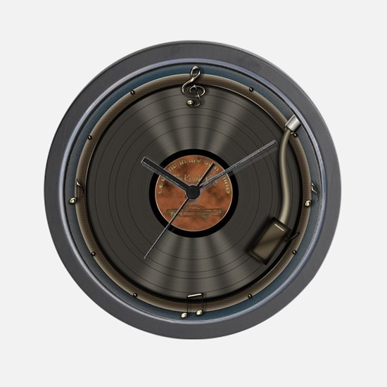 Karaoke King LP Record Wall Clock