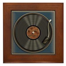 Karaoke King LP Record Framed Tile