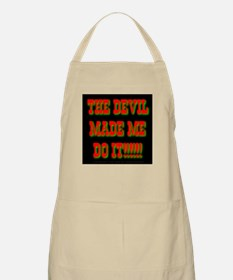 The Devil Made Me Do It! BBQ Apron