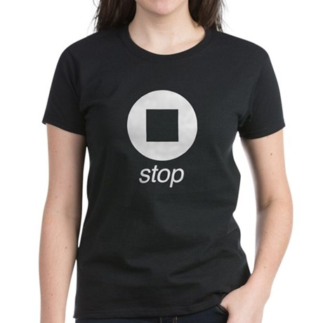 Remote Control Stop Women's Dark T-Shirt
