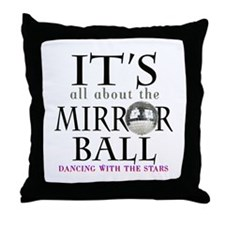 DWTS Mirror Ball Throw Pillow