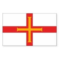 Guernsey Flag Rectangle Stickers