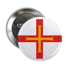 "Guernsey Flag 2.25"" Button (10 pack)"