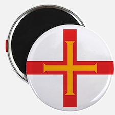 """Guernsey Flag 2.25"""" Magnet (10 pack)"""