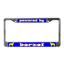 Powered by Borzoi License Plate Frame