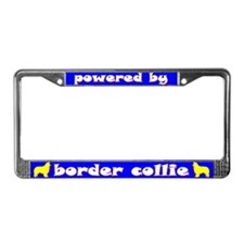 Powered by Border Collie License Plate Frame