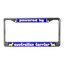 Powered by Australian Terrier License Plate Frame