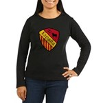 Spain Crest Women's Long Sleeve Dark T-Shirt