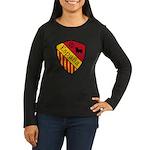 Spain Crest Women's Long Sleeve Dark T-Shirt
