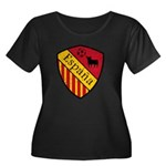Spain Crest Women's Plus Size Scoop Neck Dark T-Sh