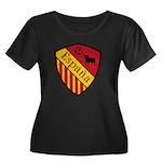 Spain Crest Women's Plus Size Scoop Neck Dark T-Sh