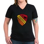 Spain Crest Women's V-Neck Dark T-Shirt