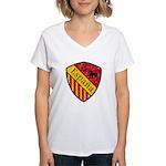Spain Crest Women's V-Neck T-Shirt
