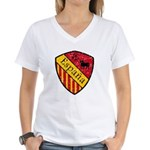 Spain Crest Women's V-Neck T-Shirt