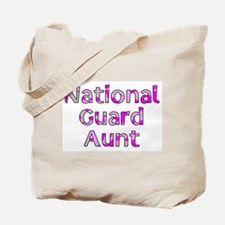 National Guard Aunt Pink Camo Tote Bag