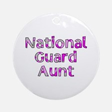National Guard Aunt Pink Camo Ornament (Round)
