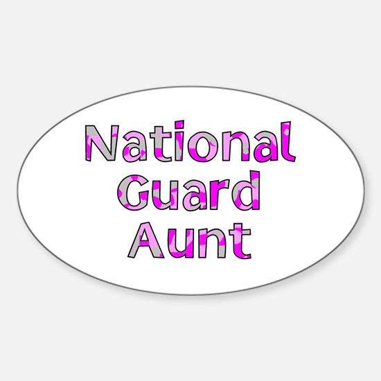 National Guard Aunt Pink Camo Oval Decal