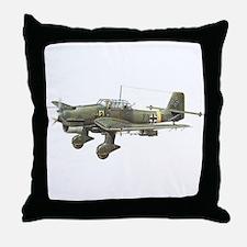 JU-87 Stuka Bomber Throw Pillow