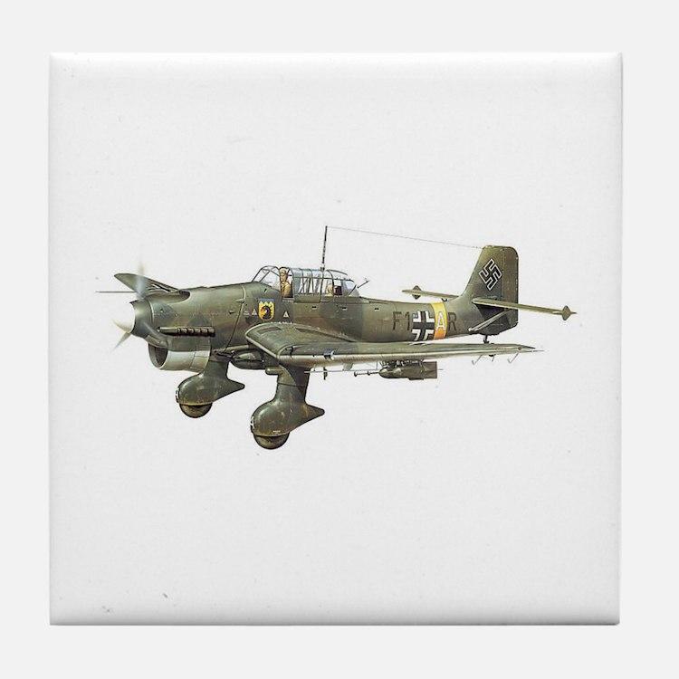 JU-87 Stuka Bomber Tile Coaster