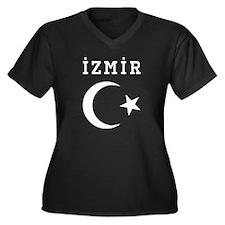 Izmir Women's Plus Size V-Neck Dark T-Shirt