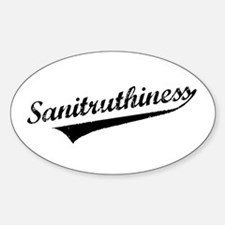 Sanity / Truthiness Sticker (Oval)
