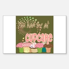 You Had Me At Cupcake Sticker (Rectangle)