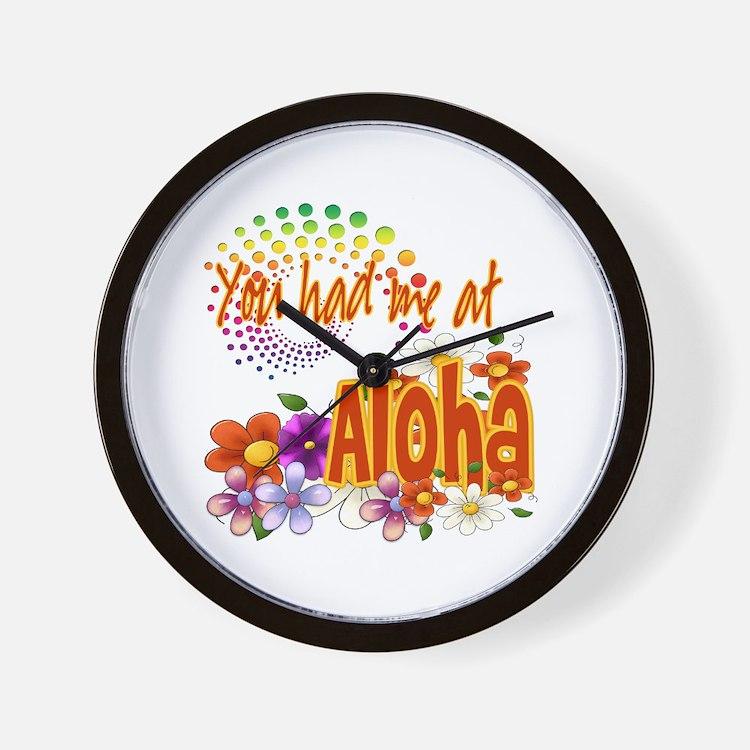 You Had Me At Aloha Wall Clock
