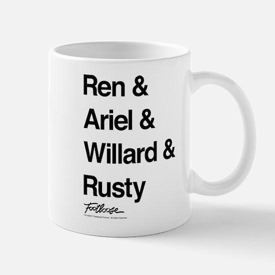 Footloose Character Names Mug