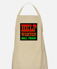 Help Wanted! Will Train BBQ Apron