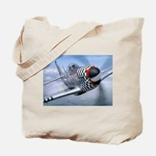 P-51 Mustang Coming at You Tote Bag