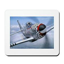 P-51 Mustang Coming at You Mousepad