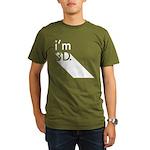 i'm 3D Organic Men's T-Shirt (dark)