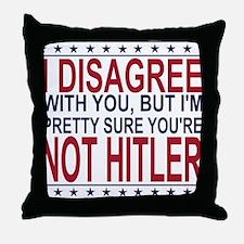 Not Hitler Throw Pillow