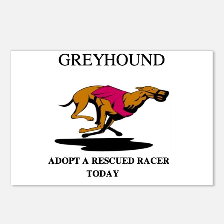 ADOPT A RESCUED RACER Postcards (Package of 8)