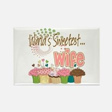 World's Sweetest Wife Rectangle Magnet