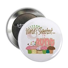 """World's Sweetest Aunt 2.25"""" Button"""