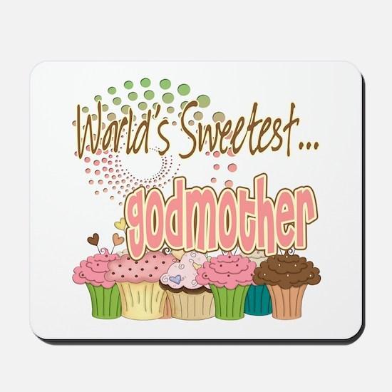 World's Sweetest Godmother Mousepad
