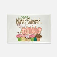World's Sweetest Godmother Rectangle Magnet