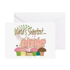 World's Sweetest Godmother Greeting Card