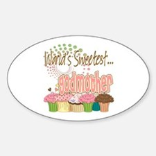World's Sweetest Godmother Sticker (Oval)
