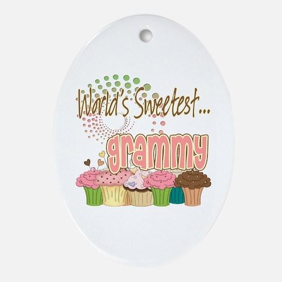 World's Sweetest Grammy Ornament (Oval)