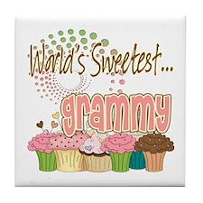 World's Sweetest Grammy Tile Coaster