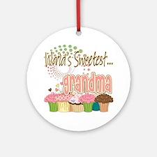 World's Sweetest Grandmother Ornament (Round)