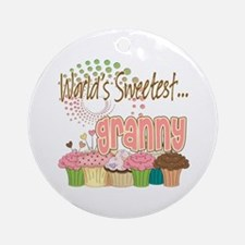 World's Sweetest Granny Ornament (Round)