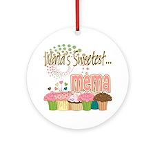 World's Sweetest Mema Ornament (Round)