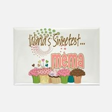 World's Sweetest Mema Rectangle Magnet
