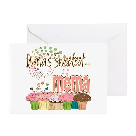 World's Sweetest Mema Greeting Card